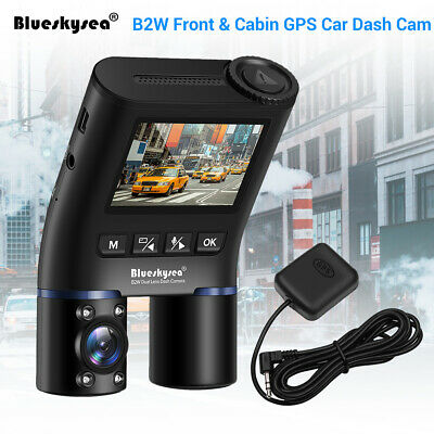 Blueskysea B2W Dual Lens GPS FHD 1080P Night Vision Wi-Fi Vehicle Car Dash Cam