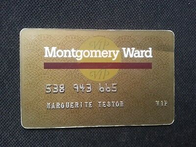 Usa Uk Montgomery Ward Credit, Charge & Shopping Card