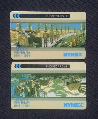 1944-94 Usa Uk Nynex Golden Jubilee Lot Of 2 Phone Cards Telecard Telephone Card