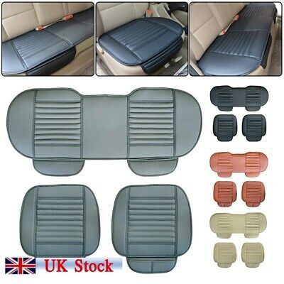 3X Black Universal Front & Rear Car Auto Seat Cover Protector Mat Cushion Pad