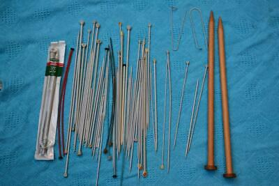 Vintage Lot of Metal/Wooden Knitting Needles. Various Sizes. Great Condition
