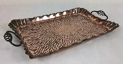 Antique 'Arts & Crafts', Hammered Copper Tray, C1900 (Hand Made)