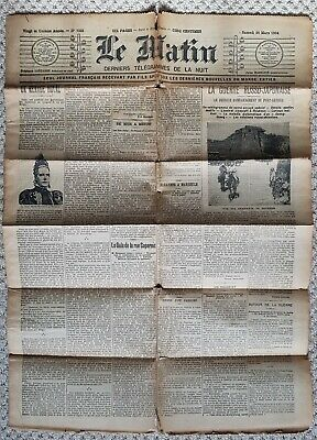 Rare Original Dated 1904 French Le Matin Newspaper Vintage Antique Complete