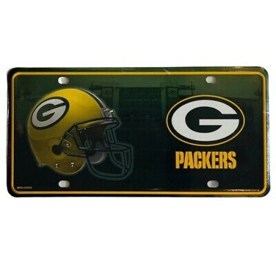 Green Bay Packers Metal License Plate NFL Auto Tag Football Vanity Team Sign