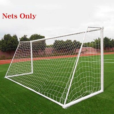 White Football Soccer Goal Post Nets For Sports Training Match Replace CS