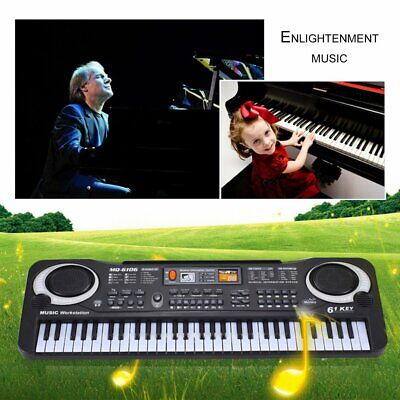 61 Key Music Electronical Keyboard Digital Electric Piano Organ & Microphone Set