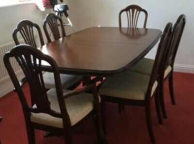 Mahogany Extending Dining Table And Chairs Strongbow
