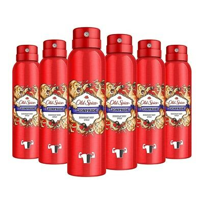 Old Spice Aerosol Bodyspray Lionpride 150 ml 6er-Pack