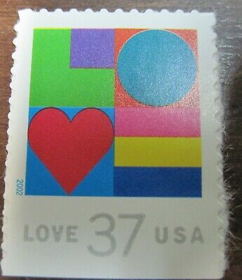 US - Single - Sc #3657 - Love - MNH
