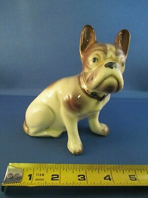 Old Vintage Antique Porcelain Ceramic French Bulldog Boston Terrier Dog Figurine