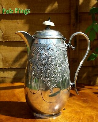 Small Antique Silver-Plated Coffee Pot
