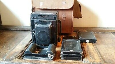 Antique Thornton Pickard Special Ruby Reflex Camera 1/4 Plate - Complete Set