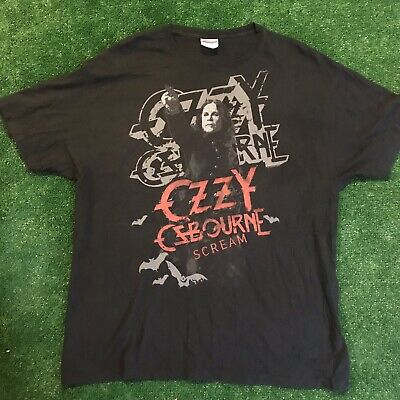Ozzy Osbourne Scream 2010 tour T-shirt Size XL vintage fade and feel band tee