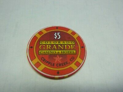 # 21 Casino Poker Chip} Colorado Grande- Cripple Creek Colo.    Rare