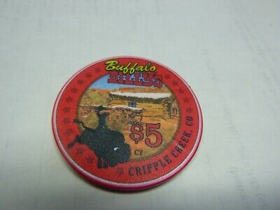 # 20 Casino Poker Chip}  Buffalo Billy's Cripple Creek Colo.-Collectors Club