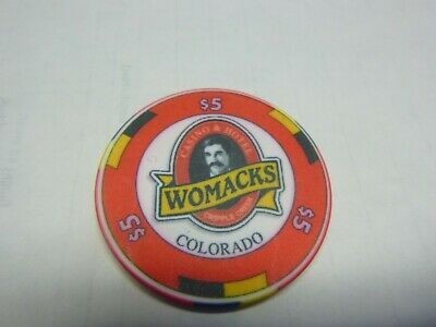 # 30 Casino Poker Chip} Womacks- Cripple Creek Colo.  $5