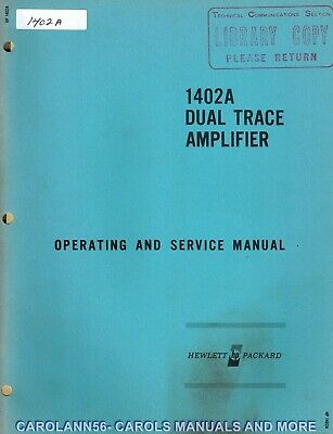HP Manual 1402A DUAL TRACE AMPLIFIER