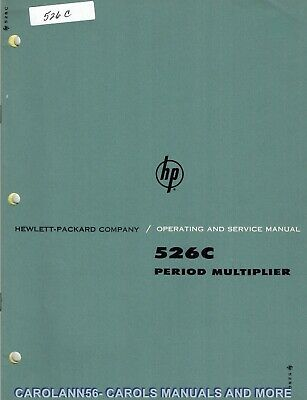 HP Manual 526C PERIOD MULTIPLIER