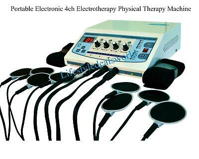 Portable Electronic 4ch Electrotherapy Physical Therapy Machine 220V