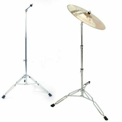 Glarry Steel Straight Cymbal Boom Stand Drum Hardware Percussion Holder Mount