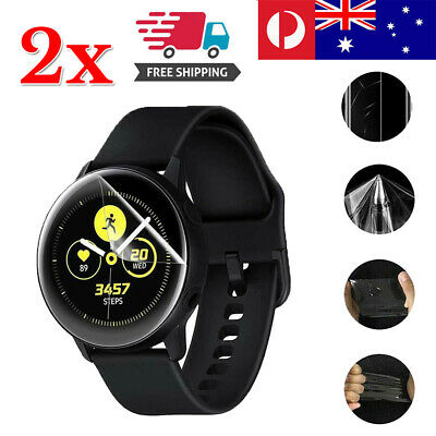2pcs Samsung Galaxy Active 2 Watch Full Clear Hygrogel Screen Soft Protector
