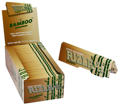 1x BOX RIZLA BAMBOO CIGARETTE ROLLING PAPERS (50 BOOKLETS)