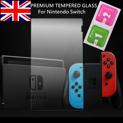 For Nintendo Switch Console PREMIUM TEMPERED GLASS Screen Protector Cover 9H UK