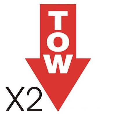 X2 Tow Stickers Race Rally Car Auto Decals Msa Motorsport In Red All Colours