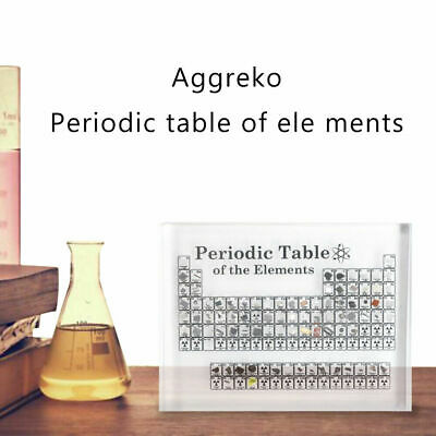 Acrylic Periodic Table of Elements Display Chemical Elements Table Teaching Gift