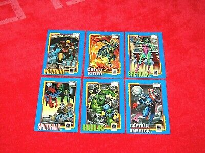1991 Impel Marvel Trading Card Treats Set Of 6 Cards (18-47)