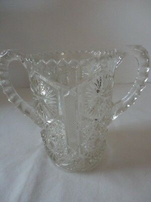 "Antique Celery Vase  American Pressed Glass , Early 1900's , 6"" Tall"