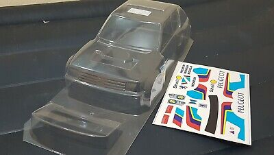 Carrozzeria body RC scala 1/10 bellissima Peugeot 205 GTI RALLY-TOURING