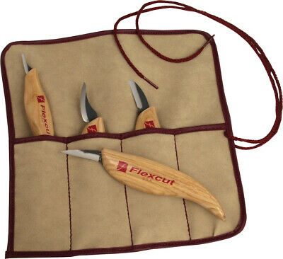 Flexcut 4-Piece Wood Carving Knife Set - KN100