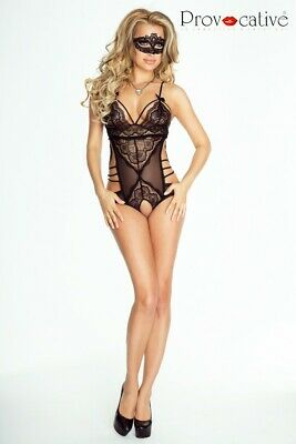 Body Women L'Eternelle Crotchless from Provocative Lingerie in Black Size L/XL