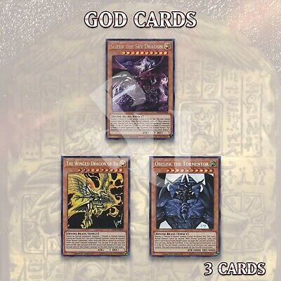 GOD CARDS DECK LOT | TN19 SLIFER OBELISK the TORMENTOR RA YuGiOh SECRET