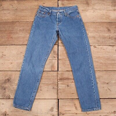 "Womens Vintage Levis Red Tab 501 CT Blue Tapered Denim Jeans 29"" x 28"" R12103"