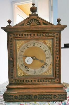 Carved Oak W&H Striking Bracket Clock in Good Working Order