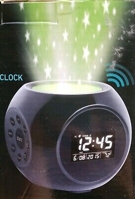 NEW! Sharper Image Sound Machine Projection Alarm Clock Stars + 6 Nature Sounds