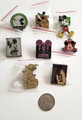 Eight 8 Mickey Mouse Walt Disney Pins Lot Collection Disneyland Hong Kong Disney