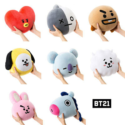 For KPOP BTS BT21 TATA SHOOKY RJ Plush Toy SUGA COOKY Bed Sofa Plush Pillow Doll