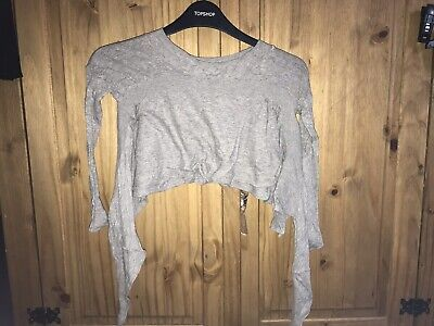 All Saints Girls Grey Cropped Jumper Age 6