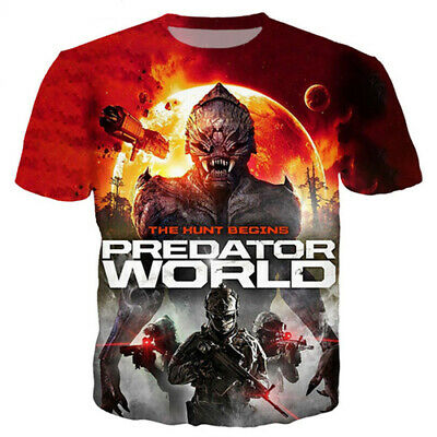 Hot Sale Movie Predator Women Men Harajuku TShirt 3D Print Short Sleeve Tee Tops