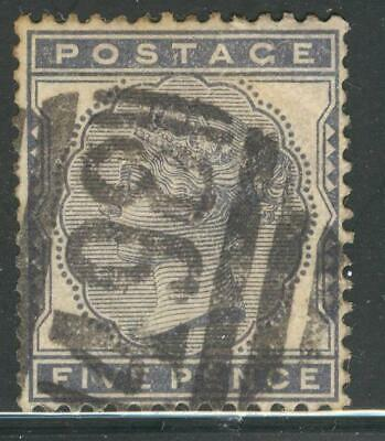 """ENG_21 - ENGLAND. 5 pence """"QUEEN VICTORIA"""" stamp. Used."""