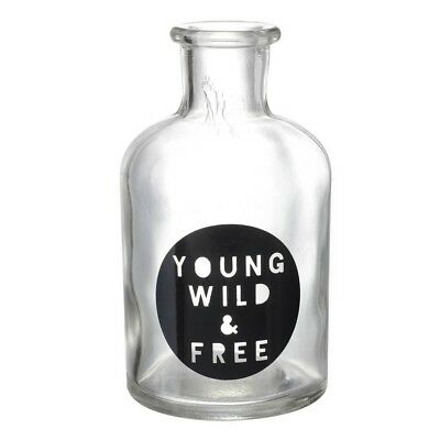 Young wild and free glass bottle heaven sends home decor gift keepsakes