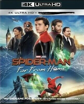Spider-man Far From Home 4K Uhd Pre Order 10/1/19 Free Ship/track