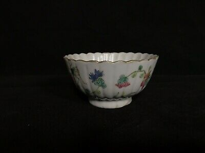 19th Chinese Grasshopper And Flower Porcelain Tea Cup Tongzhi Mks
