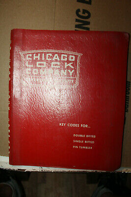 Vintage 1960 Chicago Lock Company Key Codes Double Single Bitted Pin Tumbler