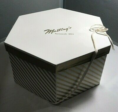 VINTAGE Marting's Department Store HAT BOX - Portsmouth, Ohio
