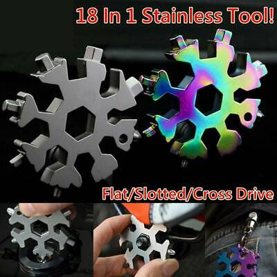 18-In-1 Multi-tool Combination Compact Portable Outdoor Snowflake Tool Card Mini