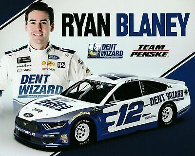 "2019 Ryan Blaney ""Dent Wizard Bristol"" #12 Nascar Monster Energy Postcard"
